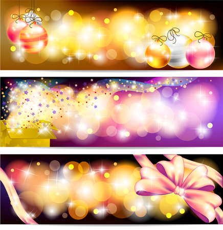floating market: Three styles of Colorful night celebration and sales ornament banner background