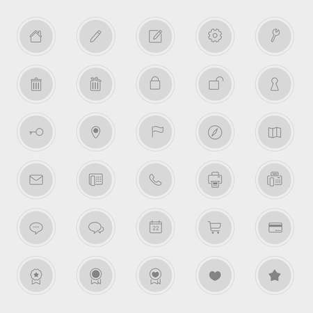 Various business and technology icon collection set 1, create by vector Vector