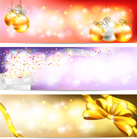 floating market: Three styles of Colorful night celebration and sales ornament banner background, create by vector