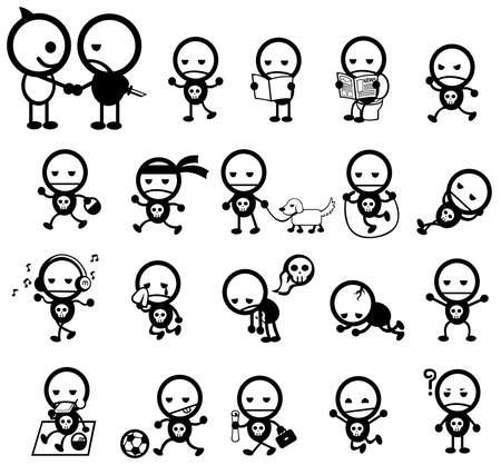 Mr. Surly expression and activity icon collection set, create by vector