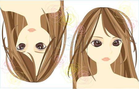 jeune fille adolescente nue: Stylish girl avec la conception de la ligne mignon, cr�er par le vecteur