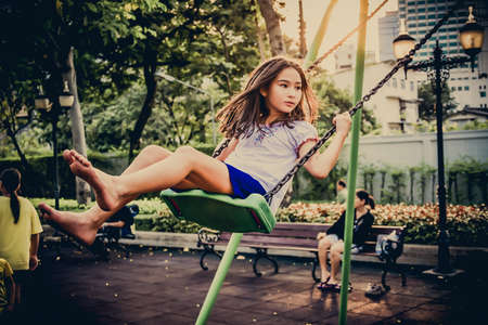 pedophilia: BANGKOK, THAILAND - MARCH 10: Bangkok governor plan to build more public playgrounds for children welfare to improve mental health, reduce violence and drugs problem in urban area of Bangkok in the year 2013. Editorial