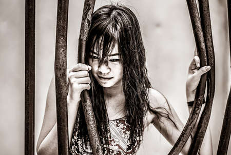 molest: Asian Thai girl is bending the prison bar with her power grunge devil style
