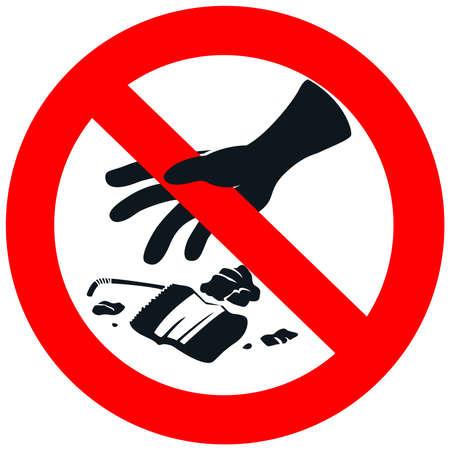 botar basura: No hay señales de la basura en el fondo blanco aislado, crear por el vector