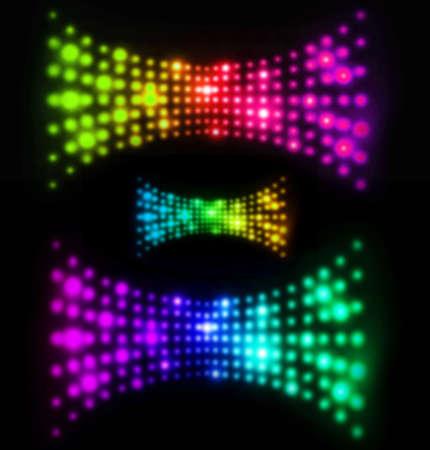 Abstract blurry light wave illustration in futuristic design illustration