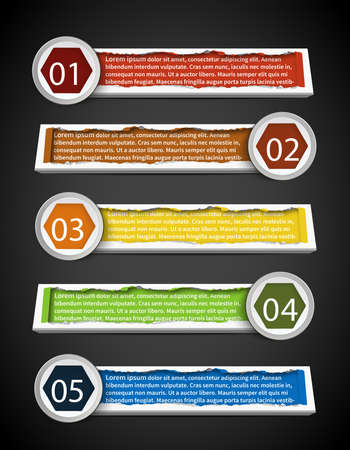 Colorful stylish infographic banner template design set 2 create by vector Vector
