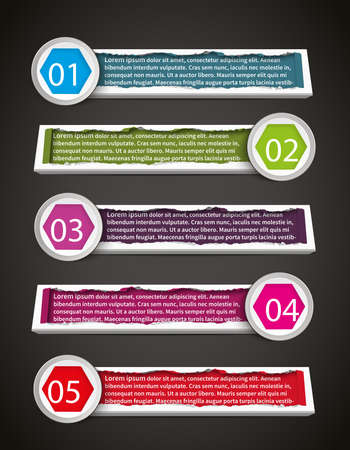 Colorful stylish infographic banner template design set create by vector Vector