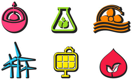 clean energy: Clean and renewable energy icon design set create by vector