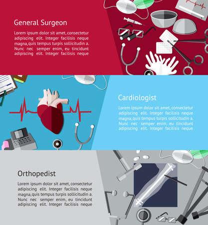 chirurgo: Tipo di specialista medici medico come chirurgo generale Vettoriali
