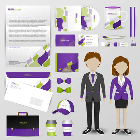 text tool: Business accessories tool  with brand icon design layout and sample text in black isolated background for businessman and businesswoman
