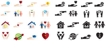 bondad: Varios tipo de silueta Vectores