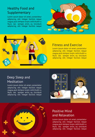 lifting weights: How to create a healthy life infographic banner template layout design use for man and woman healthcare education, create by vector