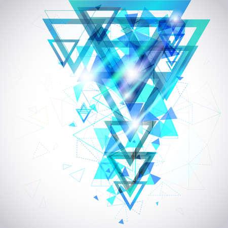 geometria: Resumen de fondo azul del hexágono y el triángulo geométrico geometría poligonal y forma el elemento de cartel y decoración de diseño de sitios web Vectores