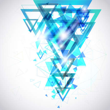 Blue Abstract background of hexagon and triangle geometric geometry polygon and element shape for poster and website decoration design Illustration