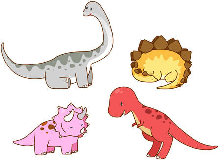 triceratops: Cartoon prehistoric dinosaur such as Triceratops