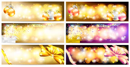 floating market: Stylish Colorful and golden abstract magic Christmas night celebration with present box