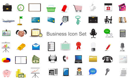 armchair shopping: Business financial marketing activity and office stationary tool icon collection set for website, create by vector