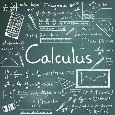 teoría de la ley cálculo y fórmula matemática ecuación icono del doodle de escritura a mano en el fondo de la pizarra con el modelo dibujado a mano para su presentación educación o título del tema, crear por el vector