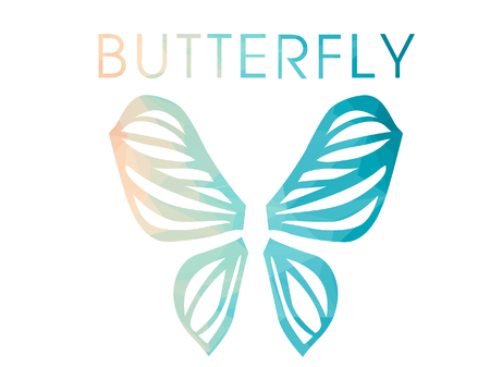 butterfly logo: Butterfly logo design. Illustration