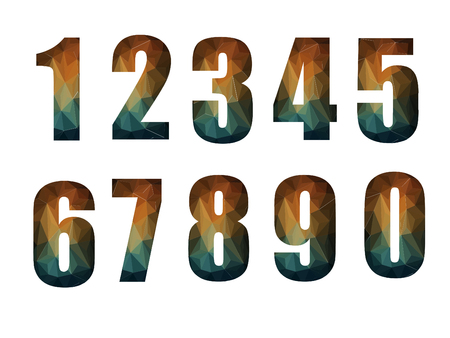 number geometric design on white background