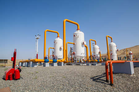 Oil and gas refinator and compressors in field