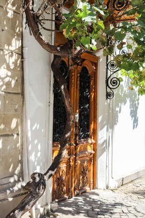 Historic door at Icheri Sheher Baku, Azerbaijan Stockfoto