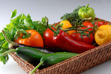 Fresh Vegetables in the Basket for Healthy Life