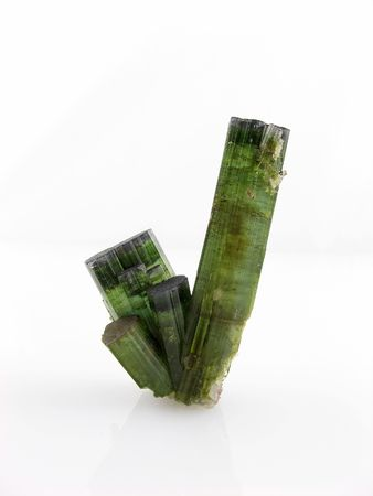 Mineral specimens - tourmaline crystals Stock Photo - 4430539