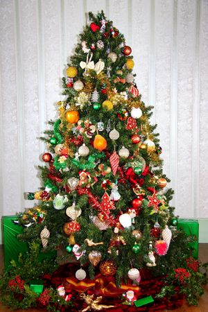 Colourful Christmas tree photo