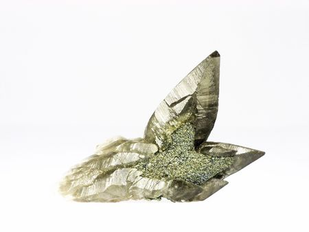Mineral specimen - calcite encasing chalcopyrite