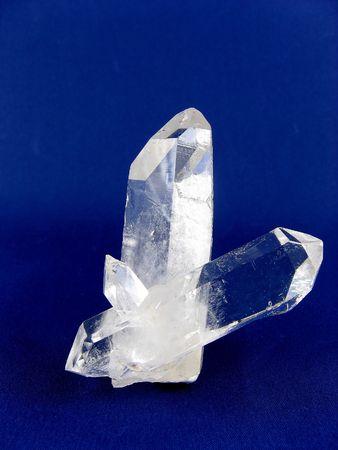 Quartz var. Rock crystal - Double Termination Stock Photo - 4745582