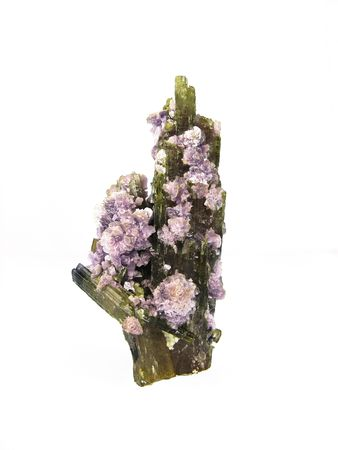 Tourmaline with Lepidolite Mica, Brazil Stock Photo - 4745584