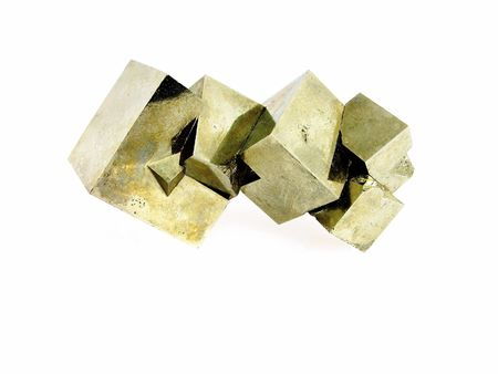 lapidary: An interlocking aggregate of Pyrite cubes (fools goldiron ore), Spain, of interest to collectors and in alternative medicine - for protection and intellect
