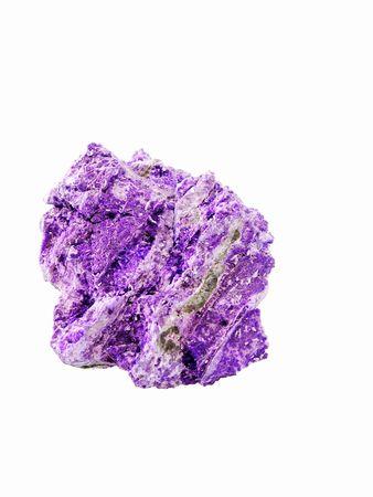 particolare: Un campione di porpora microcristalli Sugilite su una matrice di massa Sugilite dal Kalahari manganese Fields, Sud Africa. Di particolare importanza per i collezionisti e nella medicina alternativa - il trattamento dell'epilessia e dei disturbi cerebrali