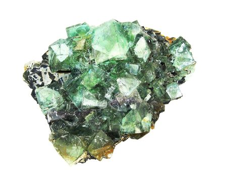A large specimen of Fluorite Crystals on matrix from Okaruso, Namibia, of interest to collectors and for alternative medicine. photo