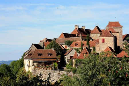 Loubressac, Lot, France, is a fortified hilltop village which is listed as one of the 152 �plus beaux villages�  � most beautiful villages� of France photo
