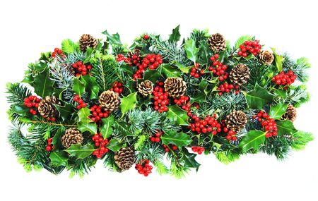 Christmas decoration comprised only of natural foliage Stock Photo - 7452055