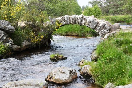 ramble: Pont de Senoueix , a Gallo-Roman bridge of interlocking granite rocks in Creuse, France