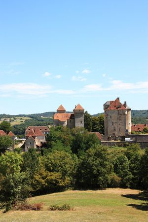 The medieval village of Curemonte, Limousin, one of the official Most Beautiful  Villages of France and a popular tourist destination