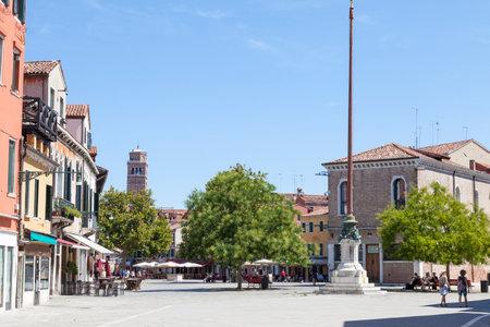 Campo Santa Margherita, Dorsoduro, Venice, Italy  on a hot summer day 7th August 2017