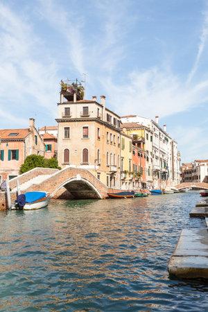 Picturesque Rio dei Carmini in Dorsoduro, Venice, Veneto, Italy Stock Photo - 93780117