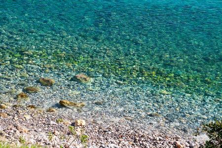 shoreline: Hermoso id�lica cristalinas aguas turquesa costa.