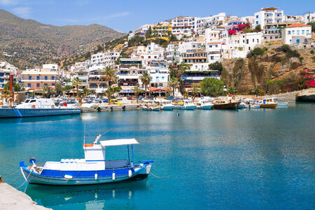 Aghia Galini fishing picturesque fishing port south Crete. photo