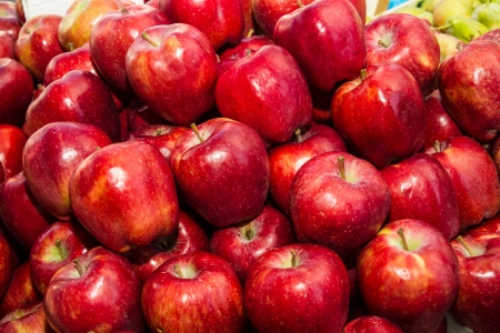 apple red: Red apples on sale at local fruit market