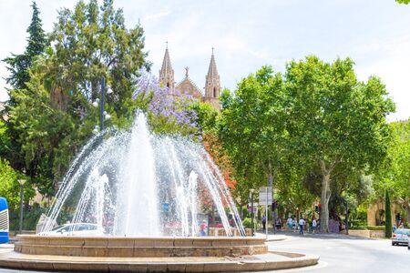 Plaza de la Reina Palma de Mallorca. Stock Photo