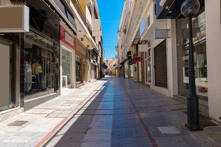 Heraklion city historical center famous Daidalou Street outlet shopping center