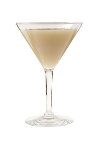 alcoholic drink: Brandy Alexander cocktail on white background Stock Photo