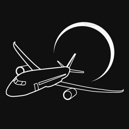 airplane icon. air travel icon and vector.