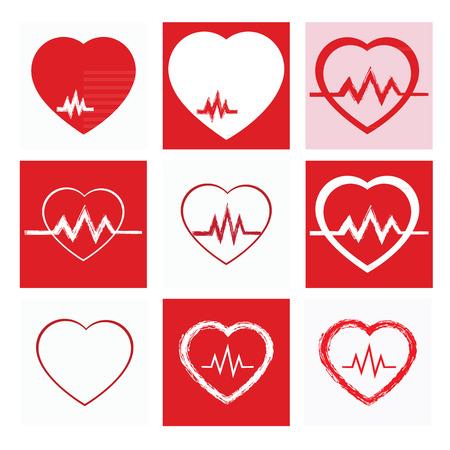 heart, icon set, vector, medicine icon and vector. Illustration