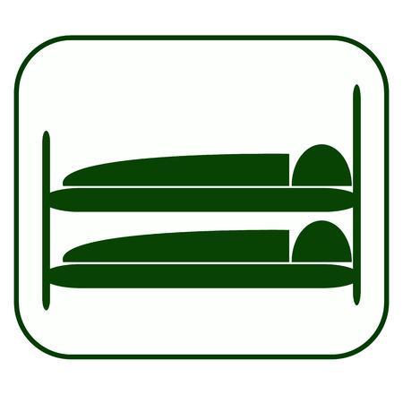 hospedaje: Lodging Icon,Vector and symbol.